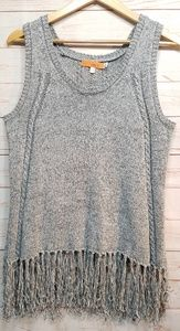 ONE A Fringed Sweater Size Medium